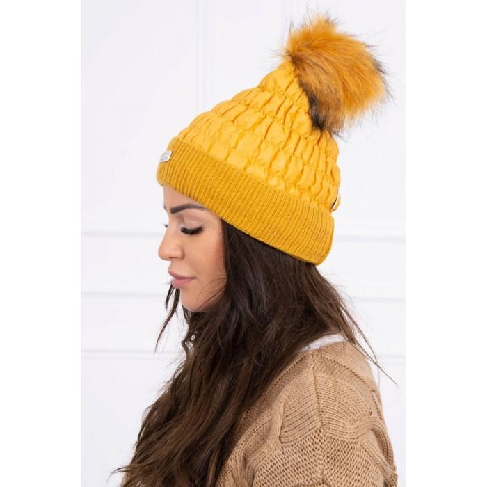 Medaus spalvos moteriška kepurė