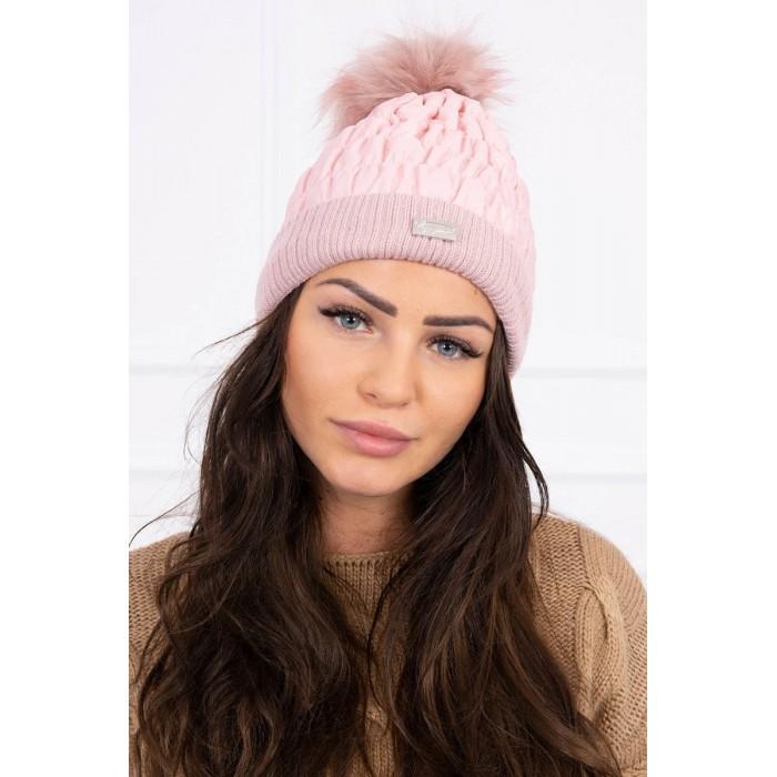 Šviesiai rožinė moteriška kepurė