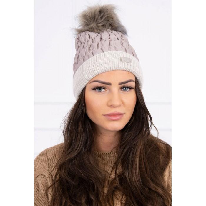 Smėlio spalvos moteriška kepurė