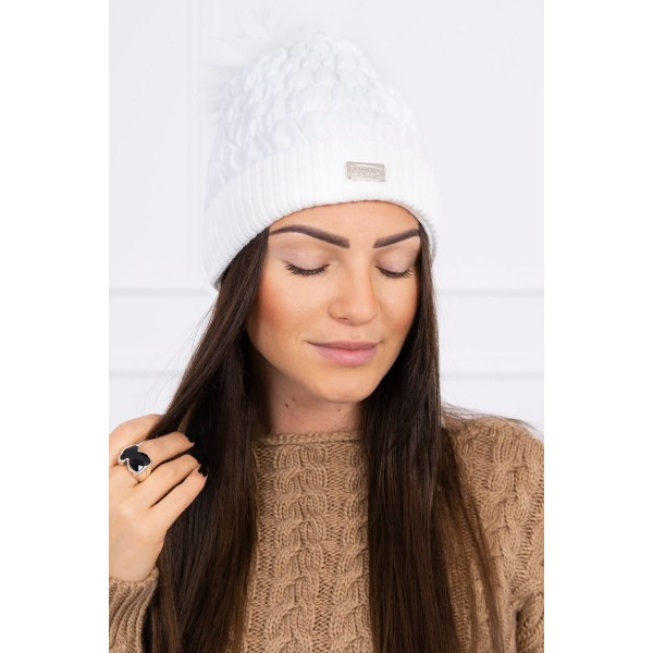 Balta moteriška kepurė