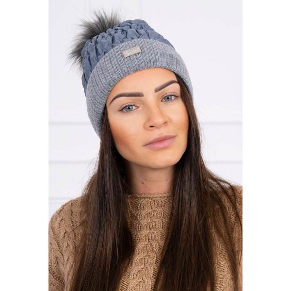 Tamsiai pilka moteriška kepurė