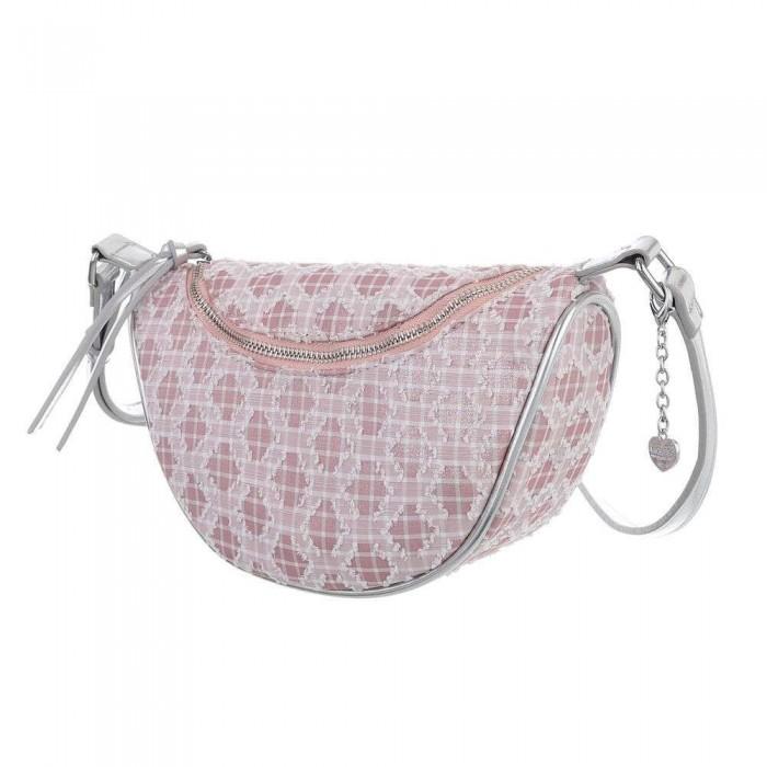 Rožinė maža moteriška rankinė