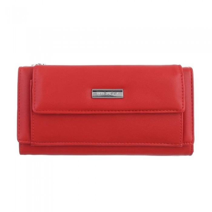 Raudona piniginė-rankinė